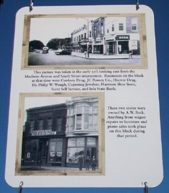 East Madison Avenue Businesses Marker image. Click for full size.