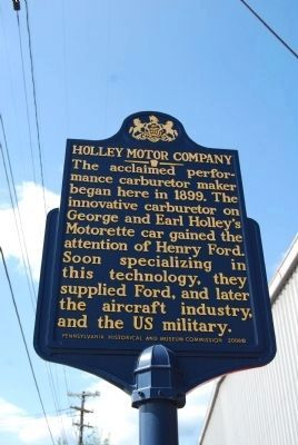 Holley Motor Company Marker image. Click for full size.