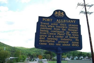 Port Allegany Marker image. Click for full size.