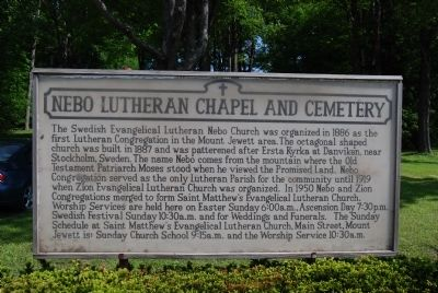 Nebo Lutheran Chapel and Cemetery Marker image. Click for full size.