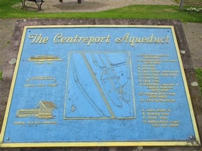 Centreport Aqueduct Map Plaque image. Click for full size.