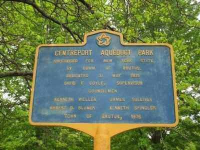 Centreport Aqueduct Park Plaque image. Click for full size.