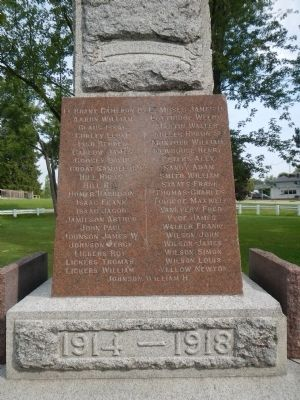 The Six Nations War Memorial Marker image. Click for full size.