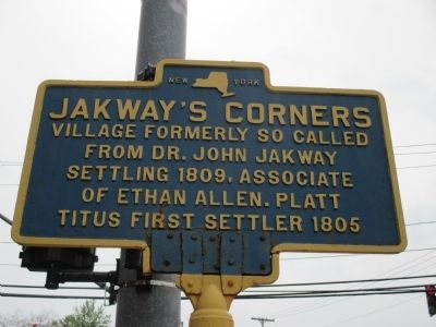 Jakway's Corners Marker image. Click for full size.