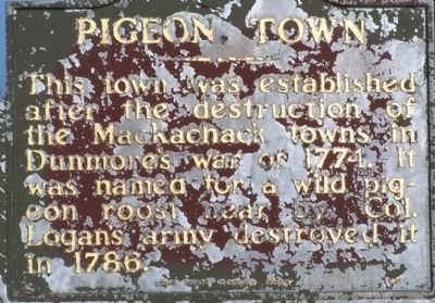 Pigeon Town Marker image. Click for full size.