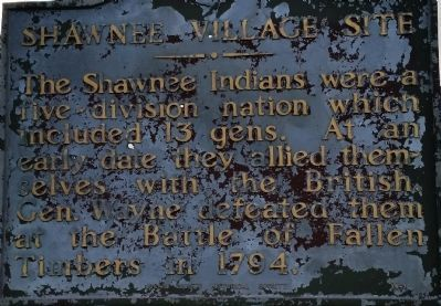 Shawnee Village Site Marker image. Click for full size.