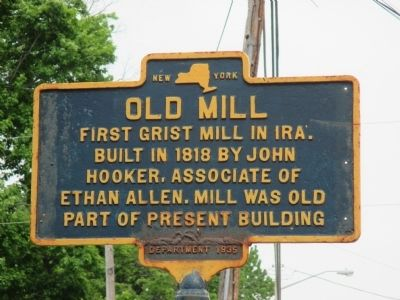 Old Grist Mill Marker image. Click for full size.