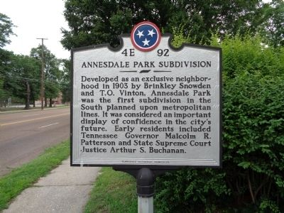 Annesdale Park Subdivision Marker image. Click for full size.