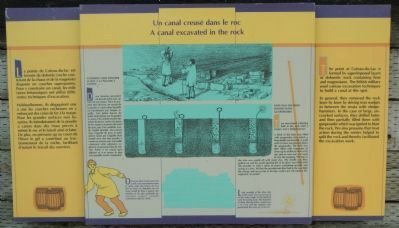 A canal excavated in the rock Marker image. Click for full size.
