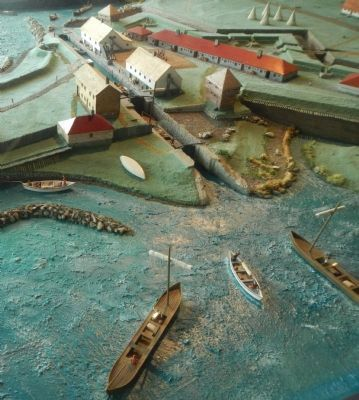 Diorama of the Coteau-du-Lac canal image. Click for full size.