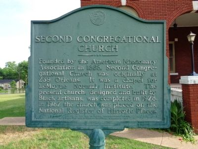 Second Congregational Church Marker image. Click for full size.