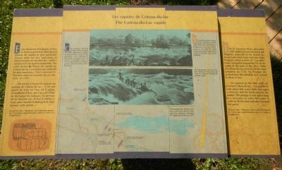 The Coteau-du-Lac rapids Marker image. Click for full size.