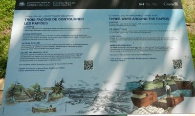 Three Ways Around the Rapids / Trois façons de contourner les rapides Plaque image. Click for full size.