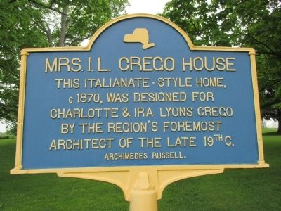 Mrs. I.L. Crego House Marker image. Click for full size.