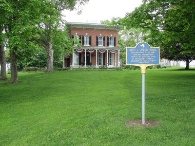 Mrs. I.L. Crego House & Marker image. Click for full size.