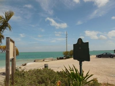 Marker is at a boat launch on the bayside of Overseas Highway. image. Click for full size.
