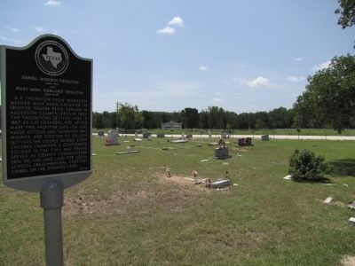 Hannibal Cemetery and Daniel Roberts and Mary Anna (Garland) Thornton Marker image. Click for full size.
