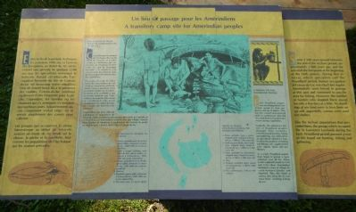 A transitory camp site for Amerindian peoples Marker image. Click for full size.