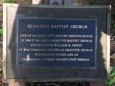 Quantico Baptist Church Marker image. Click for full size.
