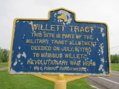 Willett Tract Marker image. Click for full size.