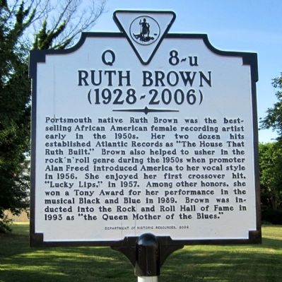 Ruth Brown Marker image. Click for full size.