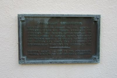 Cornwallis' Embarkation Marker image. Click for full size.