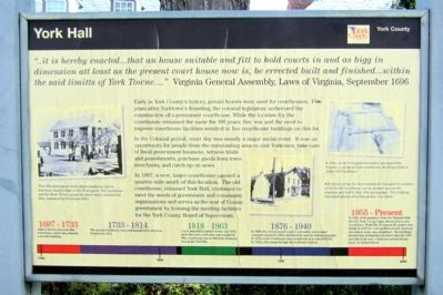 York Hall Marker image. Click for full size.