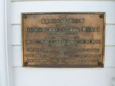 Goodspeed Opera House Marker image. Click for full size.