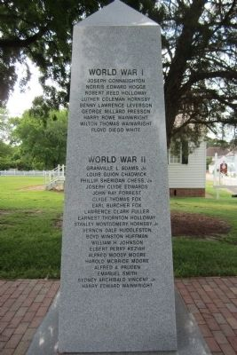 York County War Monument Marker (west face) image. Click for full size.