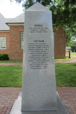 York County War Monument Marker (south face) image. Click for full size.