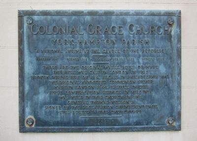 Colonial Grace Church Marker image. Click for full size.