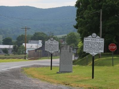 Rowan Memorial Home and Two Other Markers image. Click for full size.