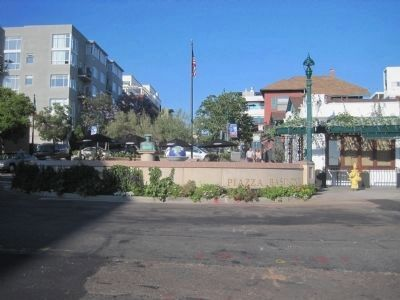 Piazza Basilone, home to the Gunnery Sergeant John Basilone Marker image. Click for full size.