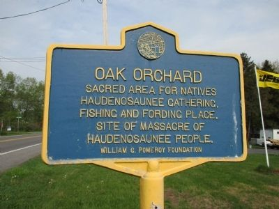 Oak Orchard Marker image. Click for full size.