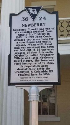 Newberry Marker<br>Front image. Click for full size.