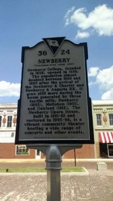 Newberry Marker<br>Reverse image. Click for full size.