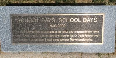 """School Days, School Days"" Marker image. Click for full size."