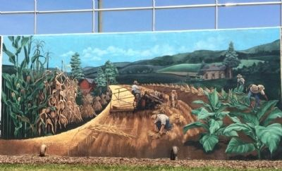 """Bringing in the Sheaves"" Mural image, Touch for more information"