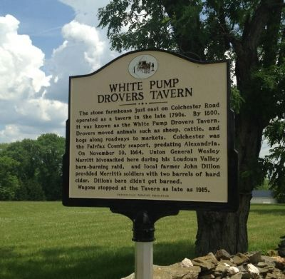 White Pump Drovers Tavern Marker image. Click for full size.