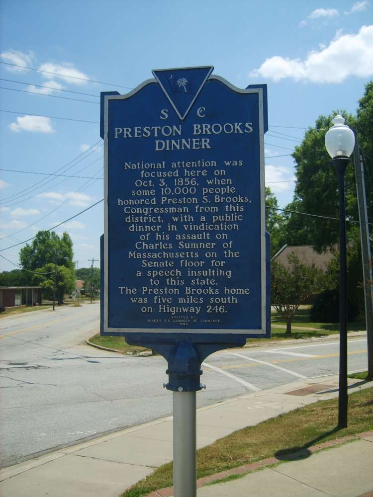 Preston Brooks Dinner Marker