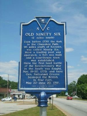 Old Ninety Six Marker image. Click for full size.
