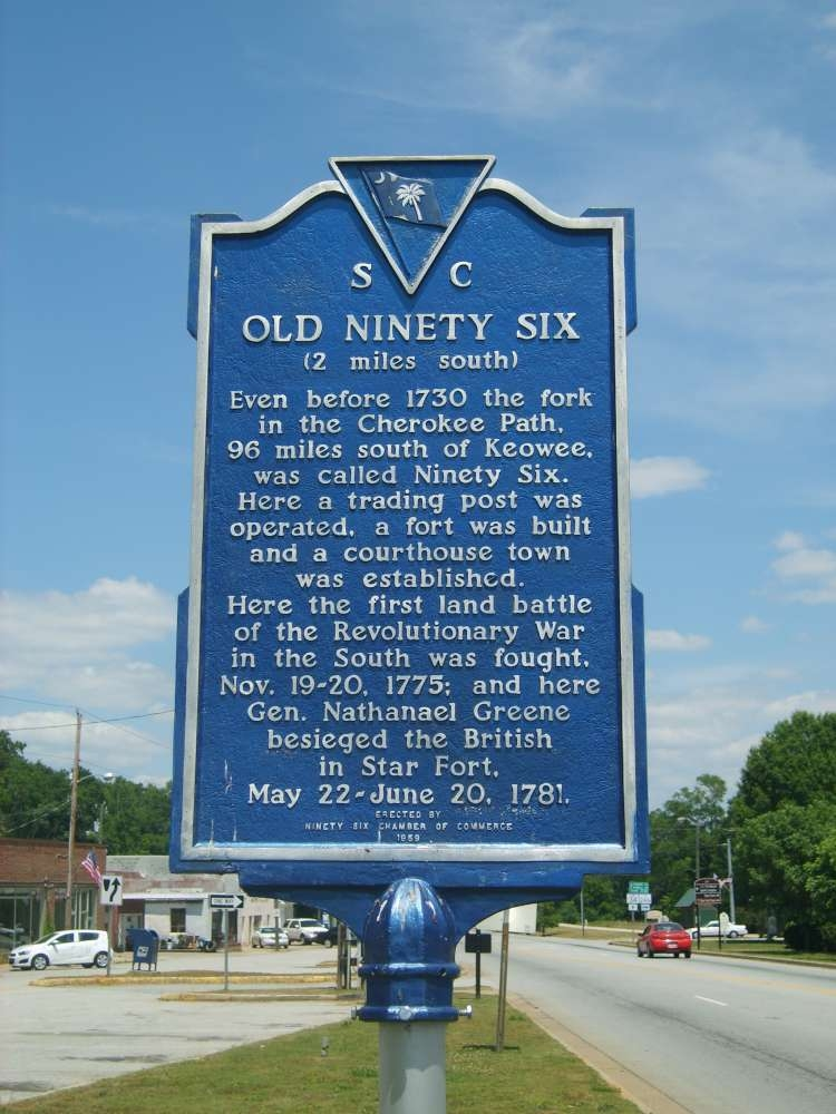 Old Ninety Six Marker