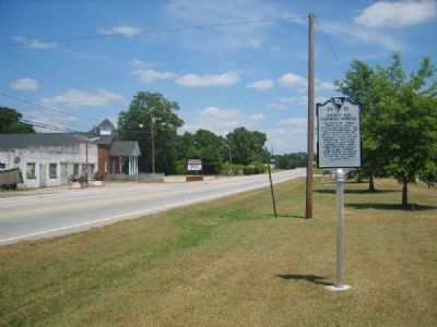 Ninety Six Colored School Marker<br>Looking West Along Ninety Six Highway image. Click for full size.