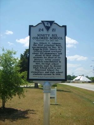 Ninety Six Colored School Marker<br>Reverse image. Click for full size.
