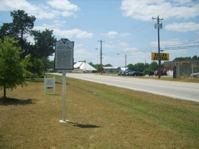 Ninety Six Colored School Marker<br>Looking East Along Ninety Six Highway image. Click for full size.