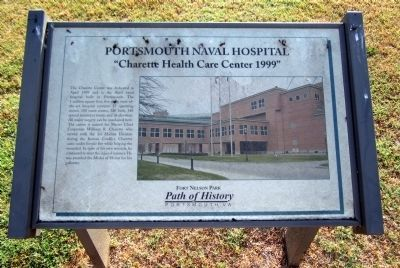 Portsmouth Naval Hospital Marker image. Click for full size.