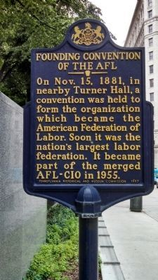 Founding Convention of the AFL Marker image. Click for full size.