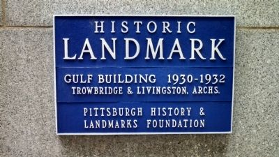Gulf Building Marker image. Click for full size.