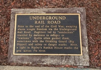 Underground Rail Road Marker image. Click for full size.