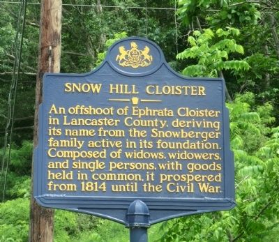 Snow Hill Cloister Marker image. Click for full size.
